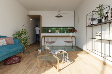 Particulier. Design d'intérieur pour un appartement, 20e arrondissement, Paris.