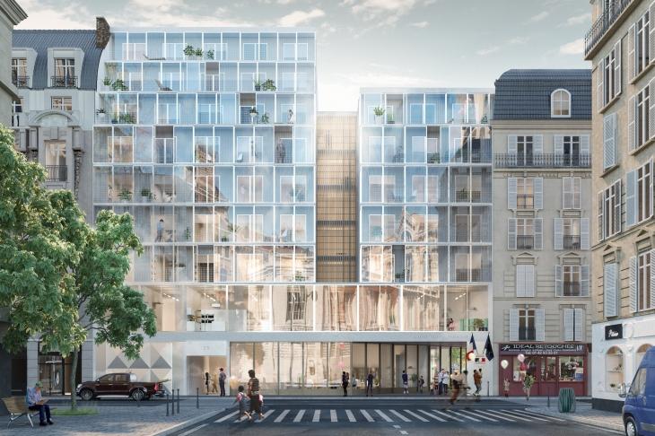 DATA. Concours pour la réalisation d'une école polyvalente et logements sociaux, 8e arrondissement, Paris.